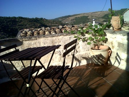 terrace ibla mountain view